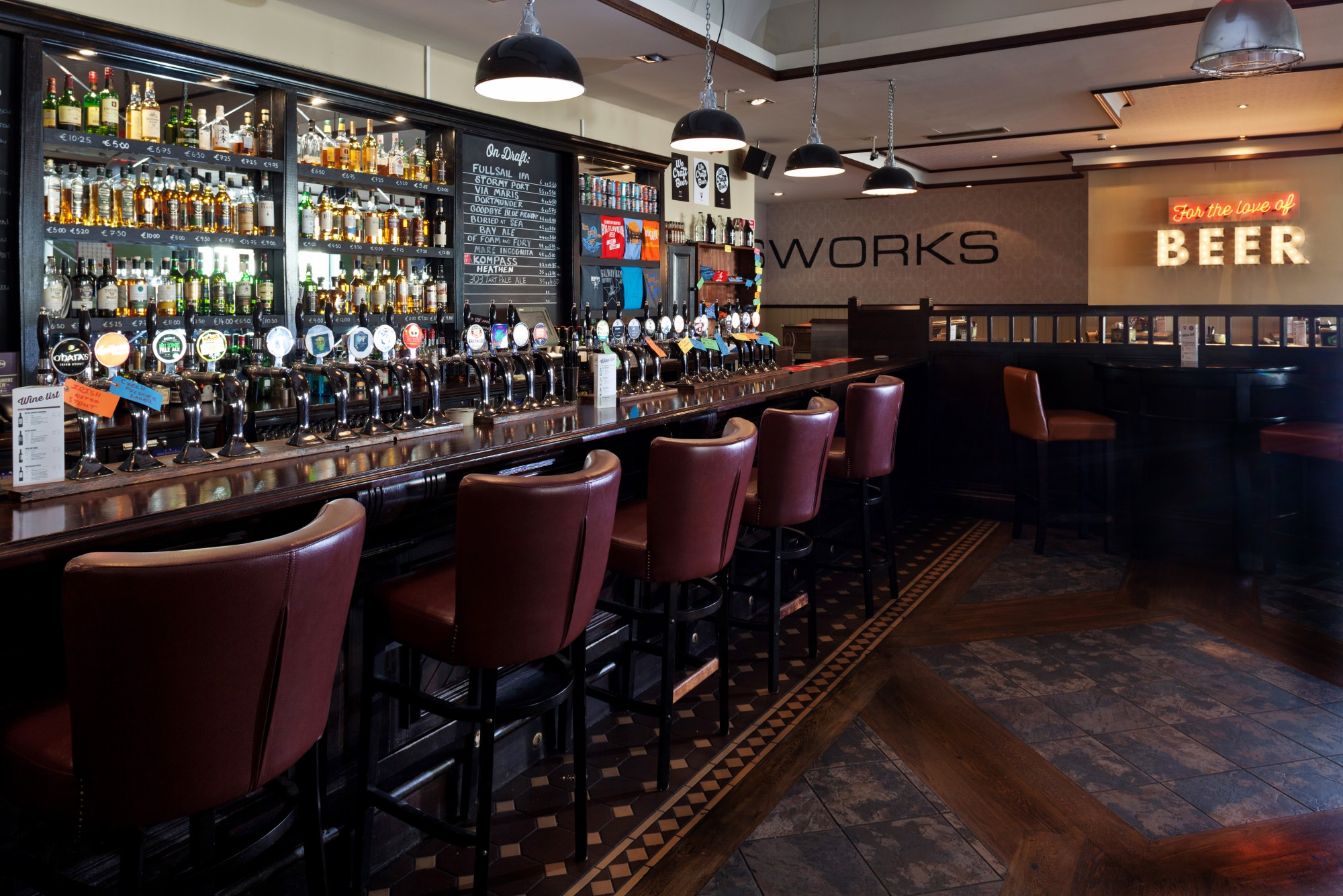 Food and drink in grand canal hotel dublin for Bar food dublin 2